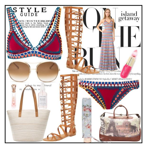 """""""Island Getaway Contest Entry"""" by pinkymonster ❤ liked on Polyvore featuring kiini, Chico's, Vince Camuto, Dsquared2, Chloé, Nicole Lee, Ted Baker, Holly's House and Winky Lux"""