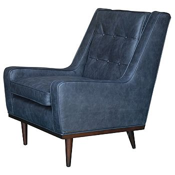 Draper Club Chair Oxford Black