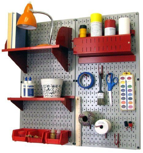 Craft Hobby Pegboard Organizer Kit Gray Pegboard With Accessories Storage Kits Pegboard Organization White Pegboard