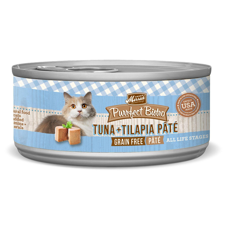Merrick Purrfect Bistro Grain Free Tuna Tilapia Pate Wet Cat
