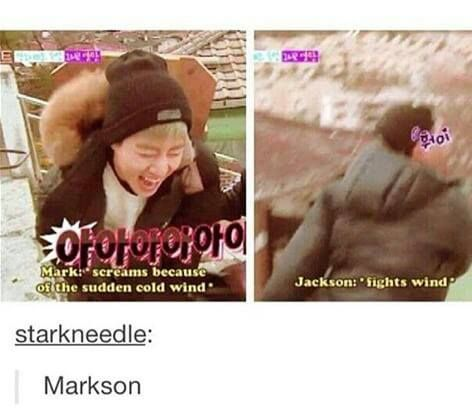 It's MarkSon time to shine, so cute. I know it's not bts