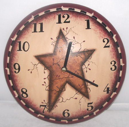 Primitive Star Country Wall Clock Audreys Http Www Amazon Com Dp B00579rrog Ref Cm Sw R Pi Dp Fzecs Primitive Decorating Country House Decor Clock Painting