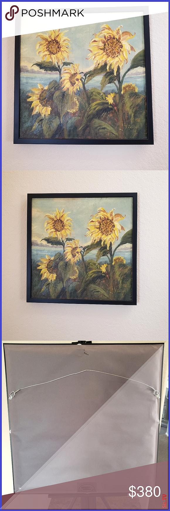 Vintage 8090 s oil painting 21 25 8243 21 25 8243 Beautiful sunflowers vintage oil painting on canvas Painted by my 86 years old mother many years ago Vintage 8090 s oil...