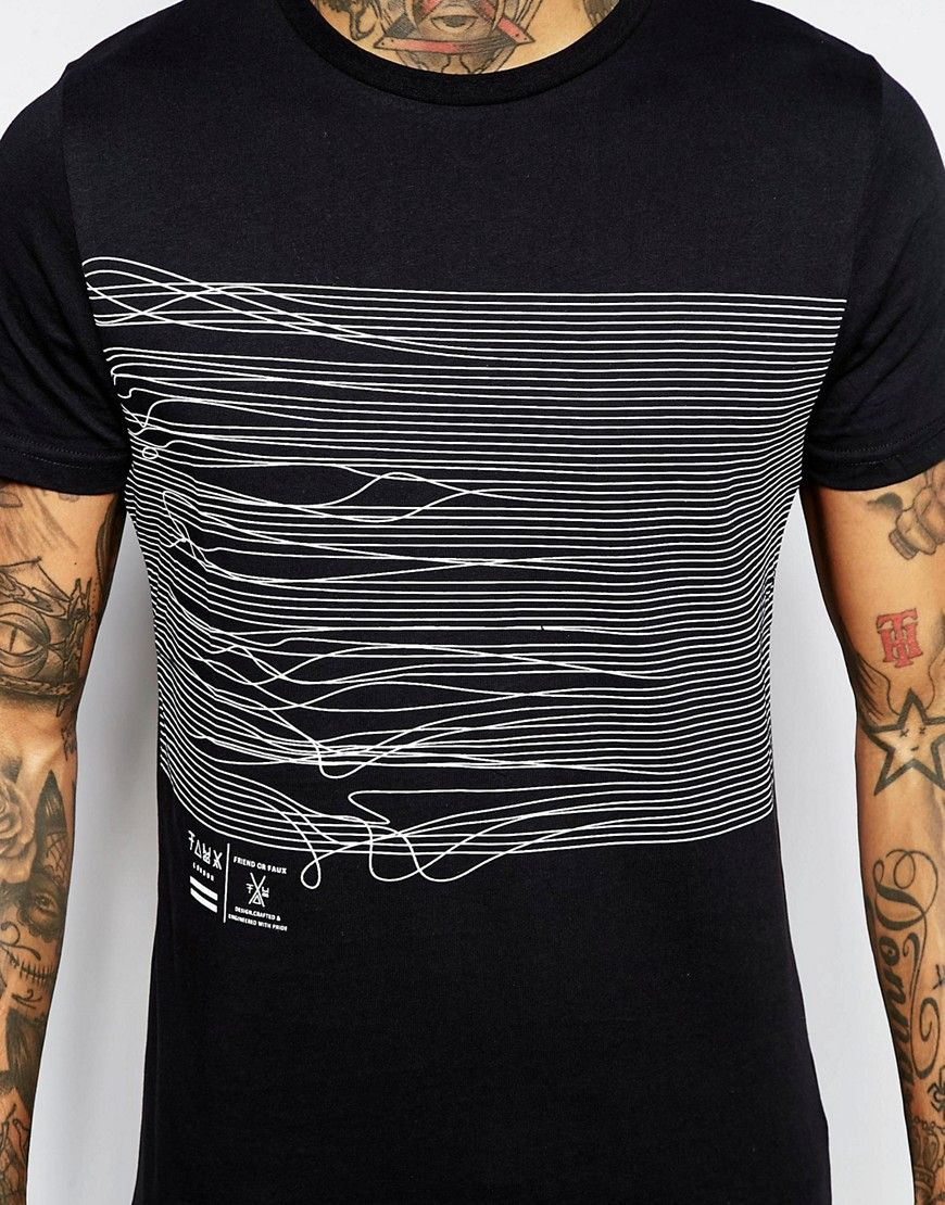 fa8224b6b4d64 Image 3 of Friend or Faux Frequency T-Shirt Back Print