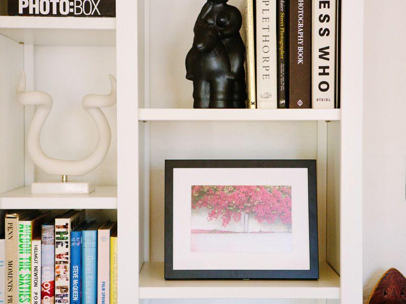 A House in the Hills print in our Mercer frame. #Framebridge #shelfie