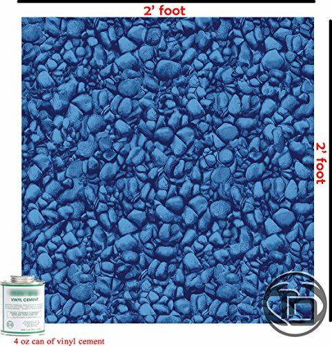 Vinyl Liner Swimming Pool Patch Kit 2 Ft x 2 Ft W/ Glue ...