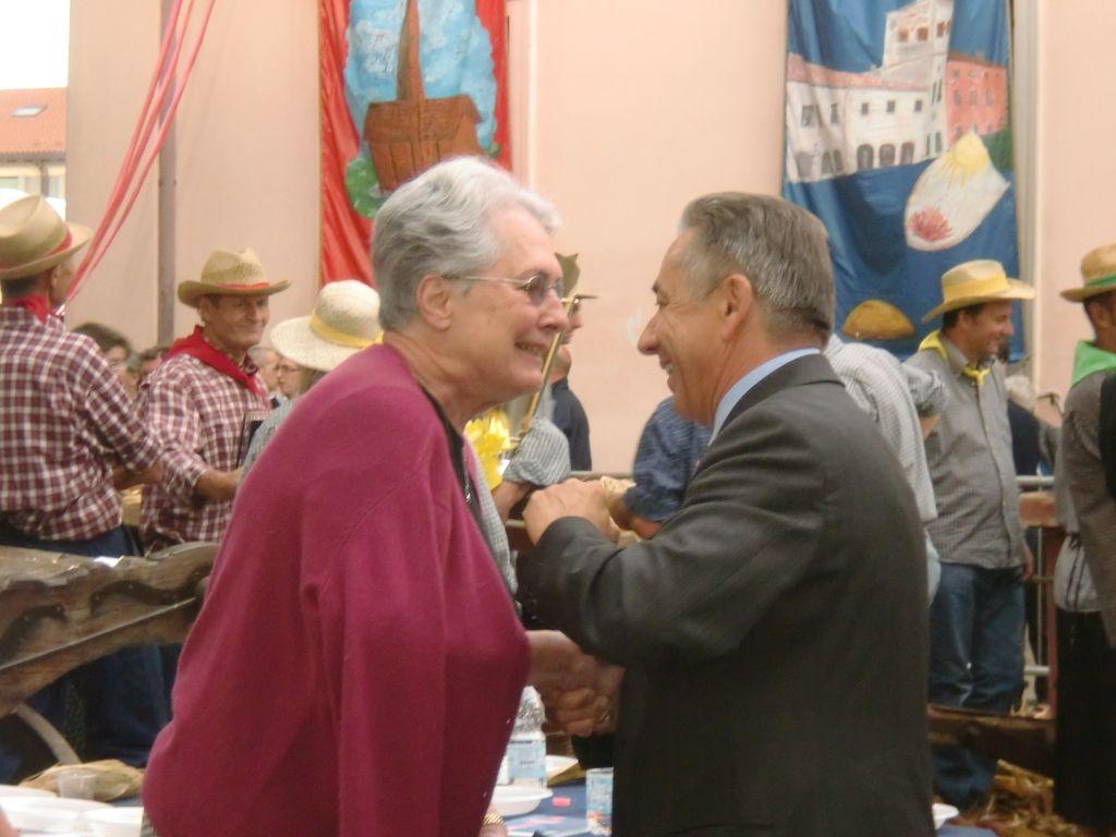 Sarasota Sister City member Pat Edmonds was selected as a Resana  Polenta Fest competition judge