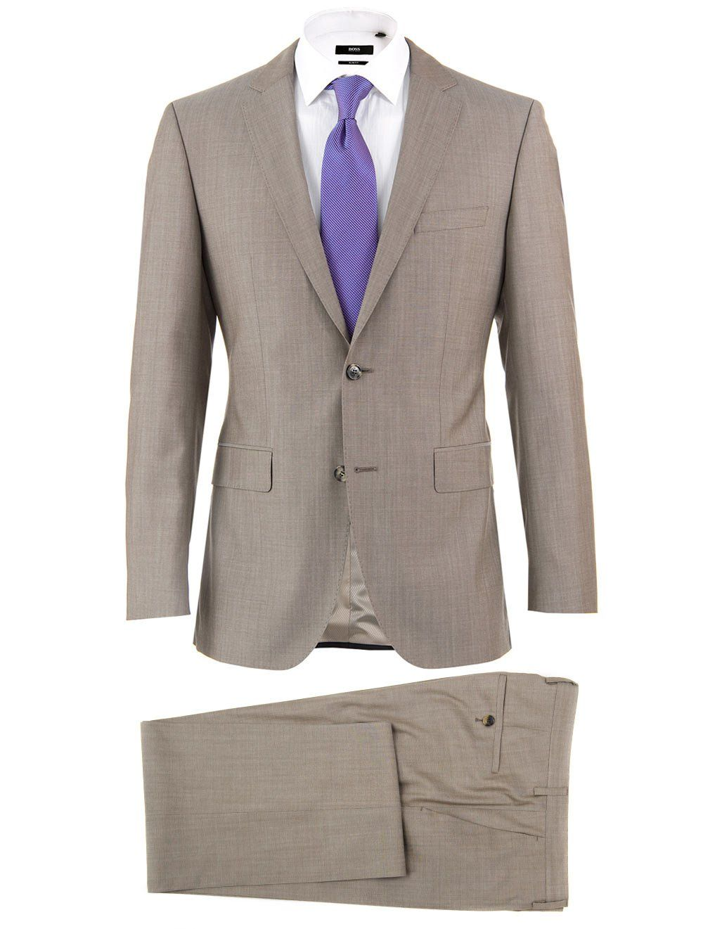 Hugo Boss Black Beige Slim Fit Wedding Suit