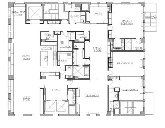 NY loft by Delson Sherman, floor plan | Remodelista
