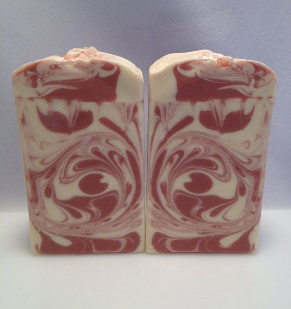 "Organic Vegan Handcrafted Soap ""Peppermint City""  with Organic Palm, Coconut, Olive, Shea, Aloe, Kaolin Clay and Coconut Milk"