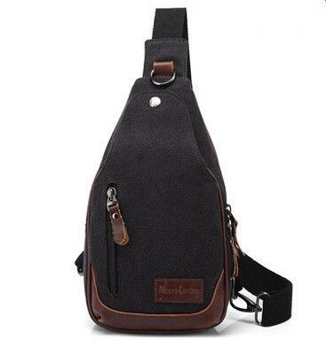 bf1261ad3ee Casual Canvas Men Backpack Retro Vintage Male Student School Bags Man One  Shoulder Backpack Chest Bags Triangle Bolsas - TMACHE