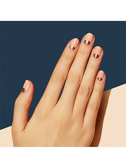 Wedding Nail Art 23 Bridal Manicure Ideas Rose Gold Half Moons Allure