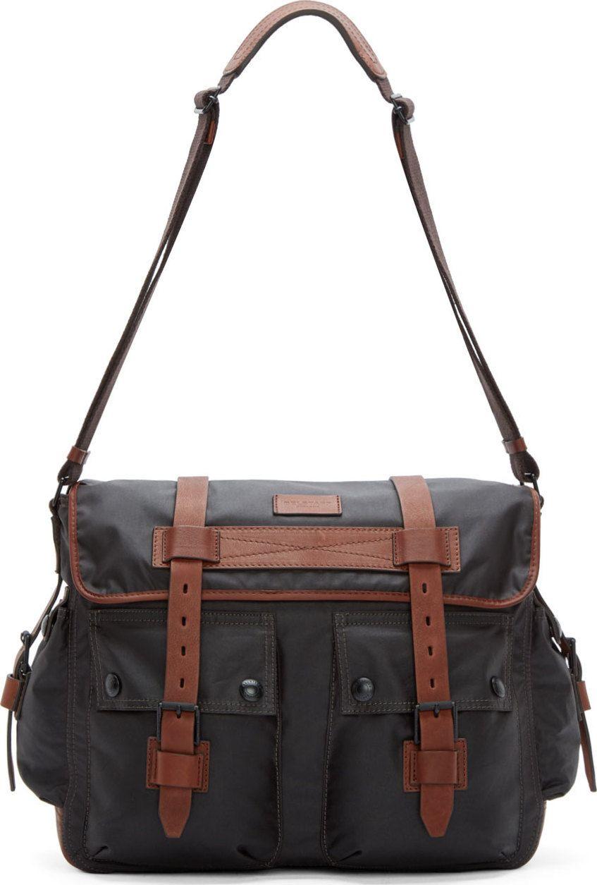 34a3650539 Belstaff Mahogany & Black Bromfield Messenger Bag | Shopping | Bags ...