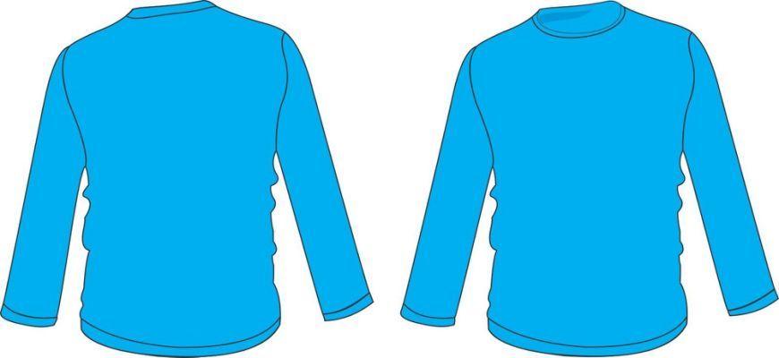 Image de Eau: Desain Baju Lengan Panjang Polos Depan Belakang Hitam
