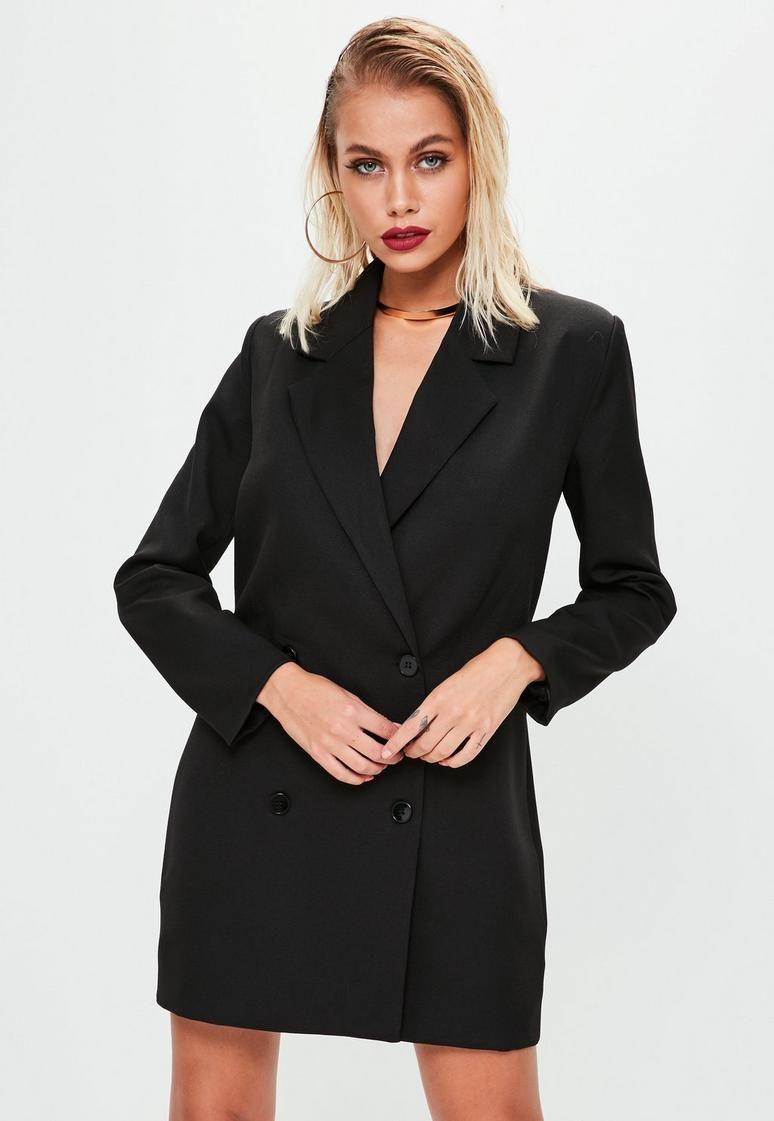 2208111906a9 Black Crepe Blazer Dress | Closet | Blazer dress, Tuxedo dress, Dresses