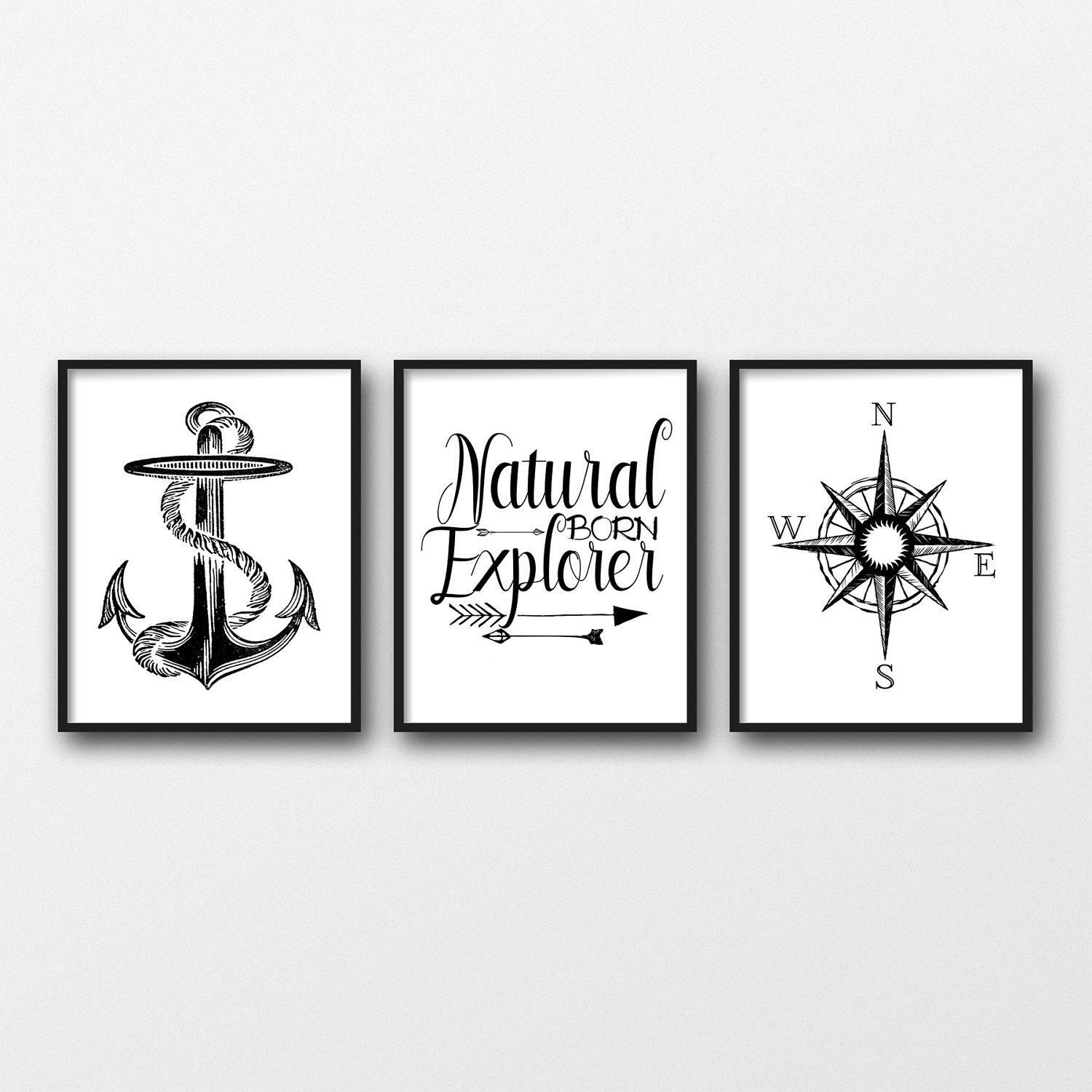 "Set of 3 INSTANT DOWNLOAD 8X10"" printable digital art"