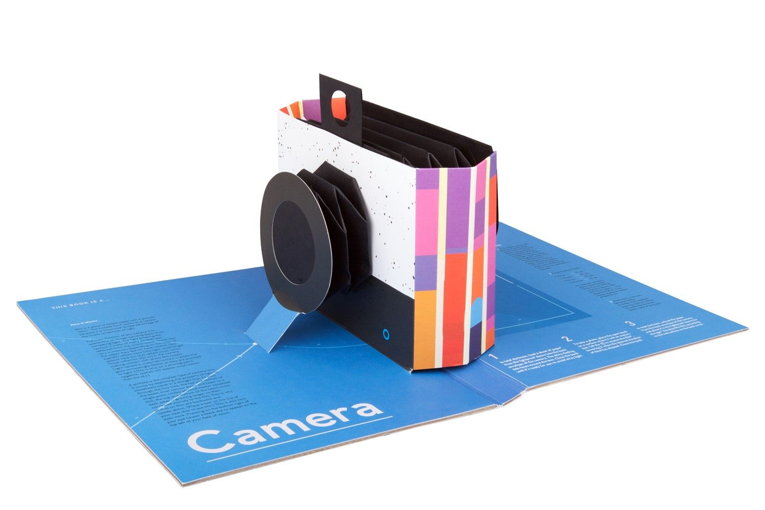 Open a book and capture a photo with this foldable pop-up pinhole camera!