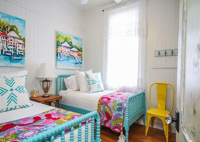 jane coslicks cottage on the green tybee island turquoise