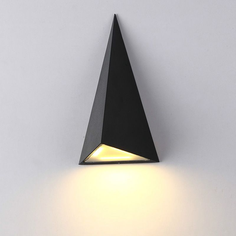 New Led Wall Lamp Outdoor Waterproof Outdoor Wall Lamp 9w Triangle Garden Lights Aluminum Aisle Balcony Wall Lamp Bu Wall Lamp Outdoor Wall Lamps Led Wall Lamp