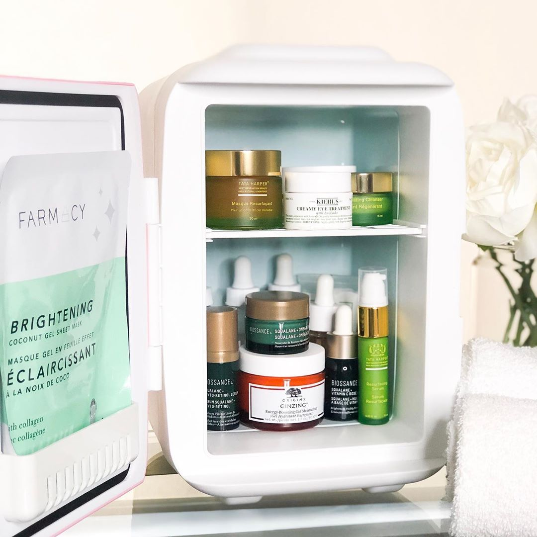 A beauty fridge is perfect for skincare products that need