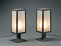 Paire de lampes  poser par Robert Mallet Stevens
