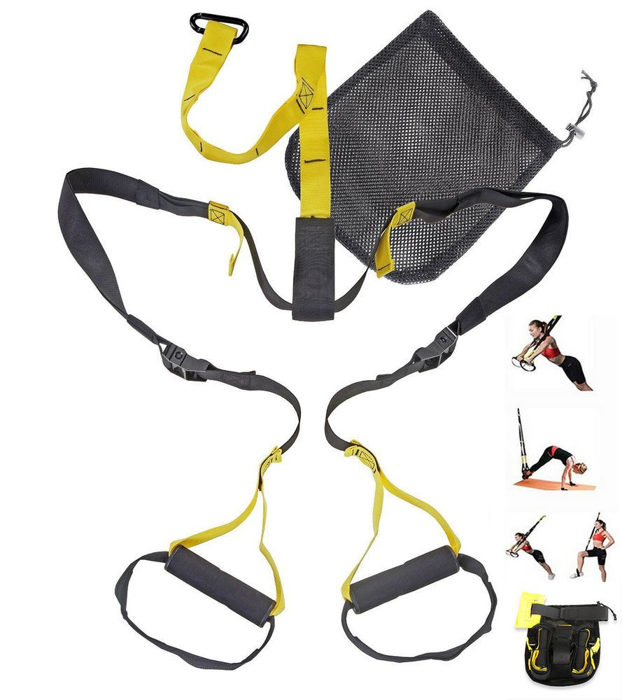 Suspension Trainer Straps Home Workout GYM MMA Resistance Yoga Training Crossfit