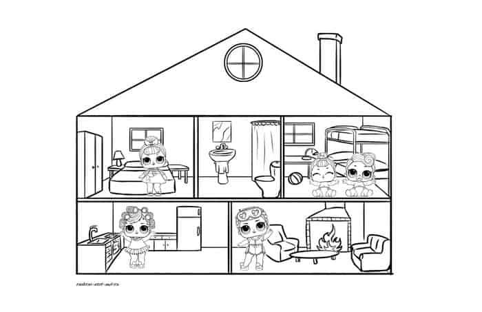 Coloring Pages For Kids Lol Coloring Pages For Kids Unicorn Coloring Pages House Colouring Pages
