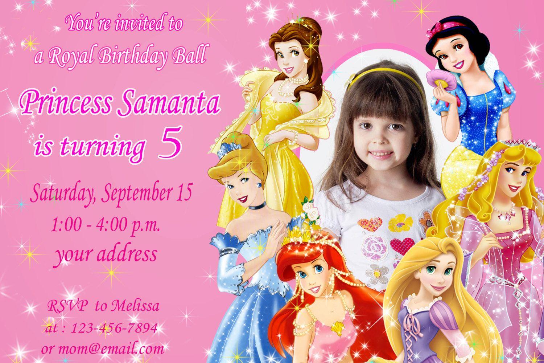 Disney Princess Birthday Invitation Ariel by SuperBirthdayParty ...