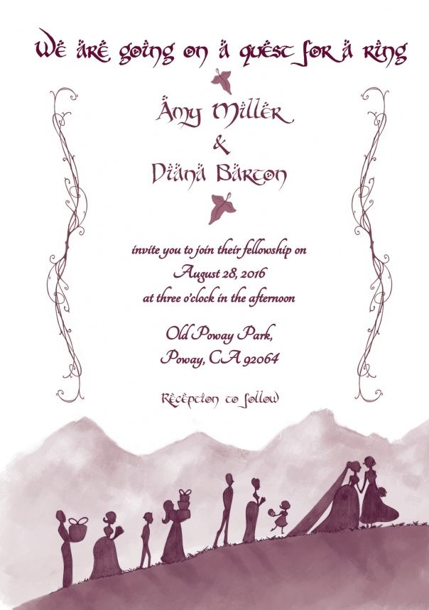 The Most Amazing Geeky Wedding Invitations And Save The Dates Lotr Wedding Geeky Wedding Nerd Wedding