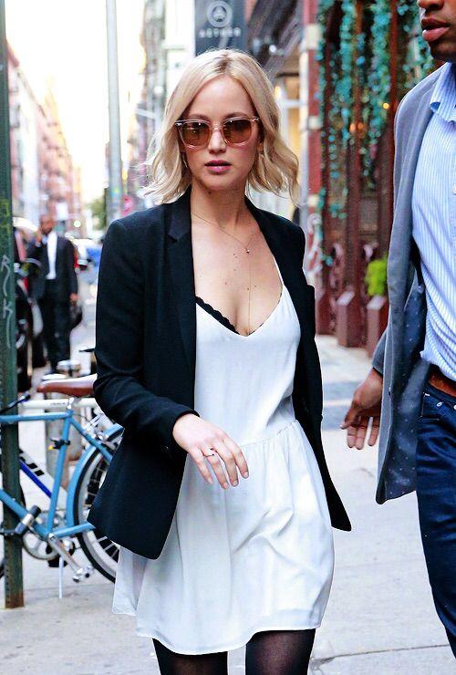 Easy blazer + mini dress