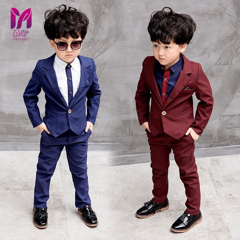 UK Baby Kids Boys Suits 3Pcs Formal Toddler Waistcoat Suit Wedding Party Outfits