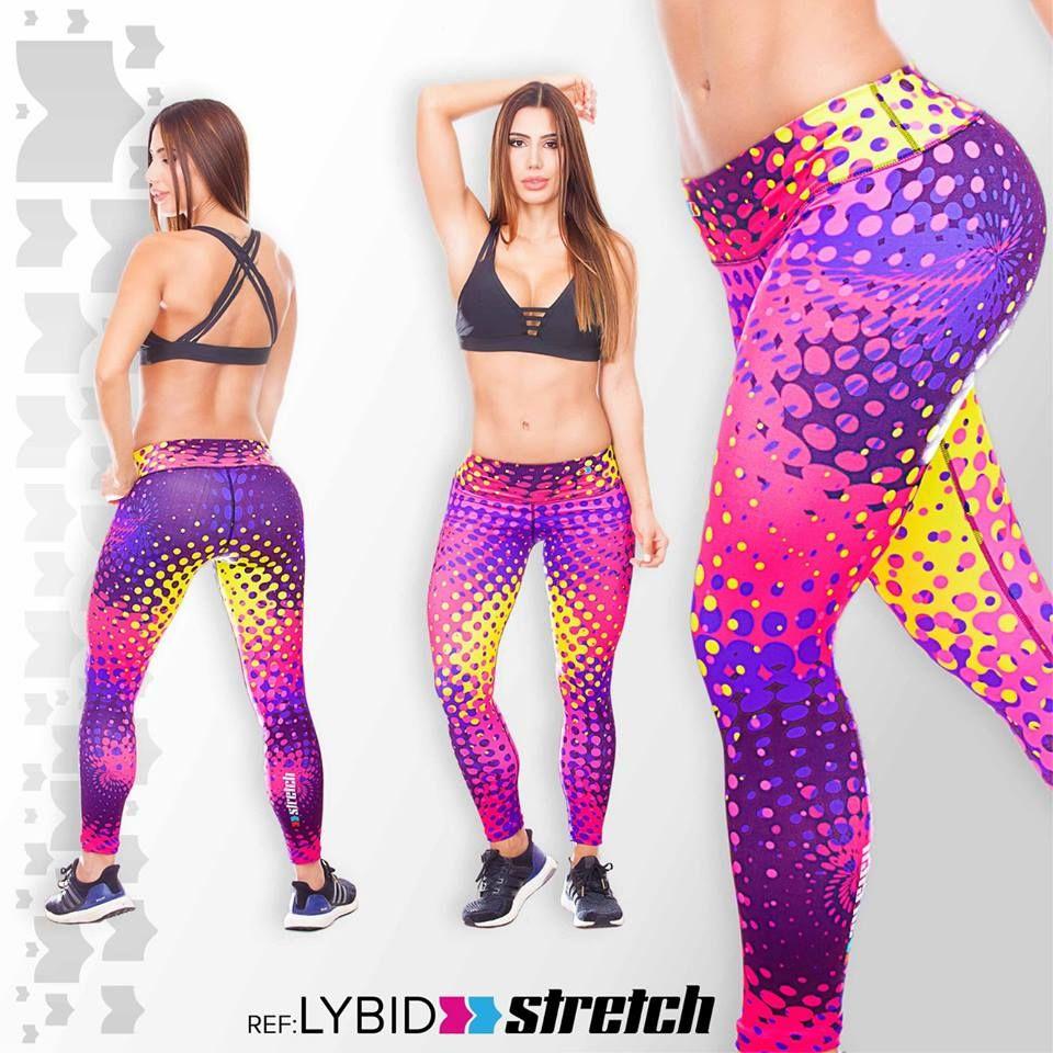 Leggins stretch fiber ropa deportiva colombiana mallas lycra Legs 271eecc685510