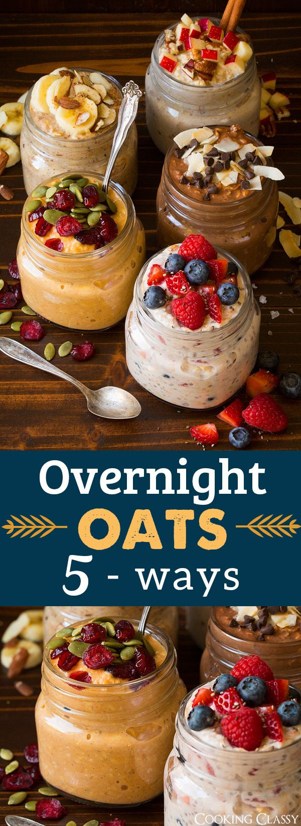 overnight oats five ways cooking classy easy breakfast healthy breakfast recipes recipes on hebbar s kitchen recipes oats id=66118