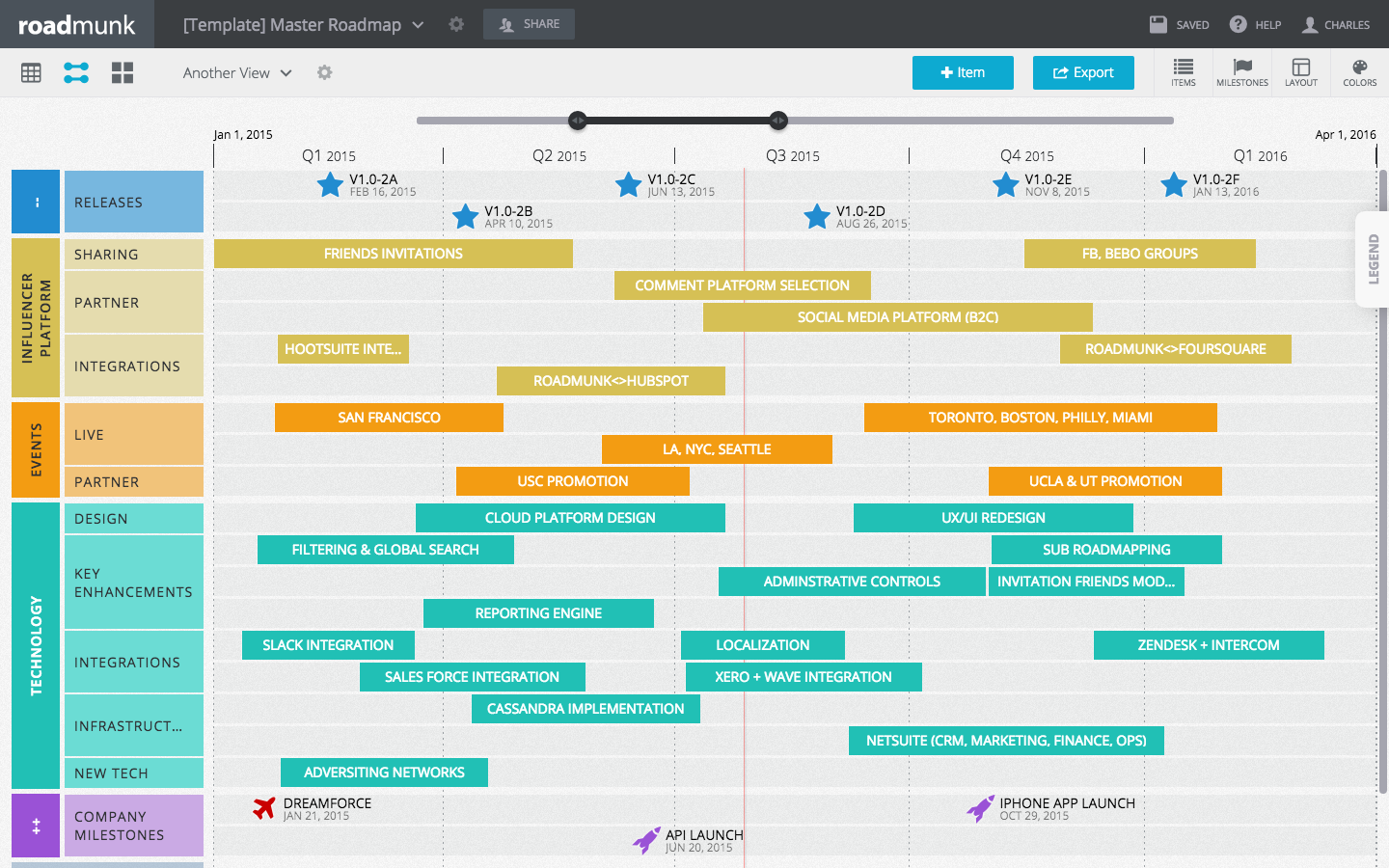 Create beautiful product roadmaps quickly. Drag & Drop functionality ...