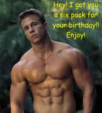 Sexy men saying happy birthday
