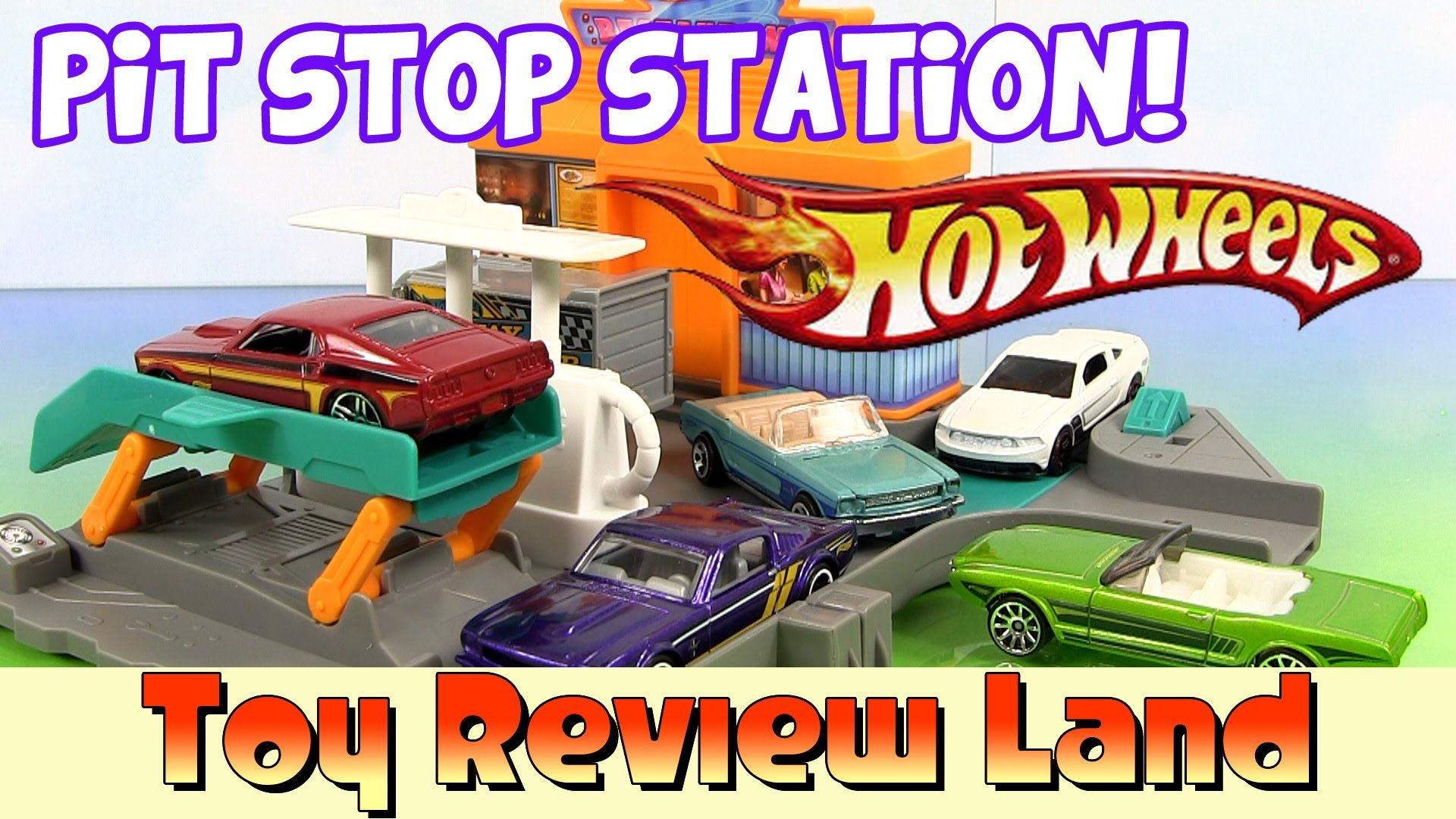 Hotwheels Fill Up Station and Mustang 5 Pack Car Toys Box Opening!