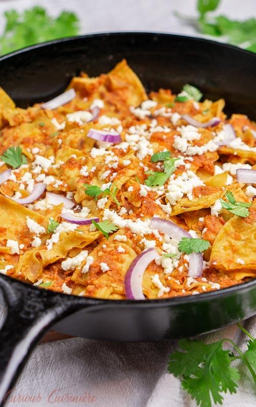 Chilaquiles Rojos Recipe • Curious Cuisiniere