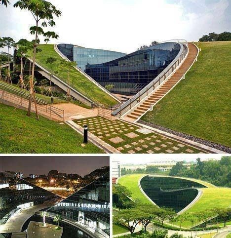 Singaporeu0027s Green Roofed Art School At Nanyang Technological University By  CPG Consultants Read More: 6 Exceptional Eco Schools Top Six Green Schools  ...