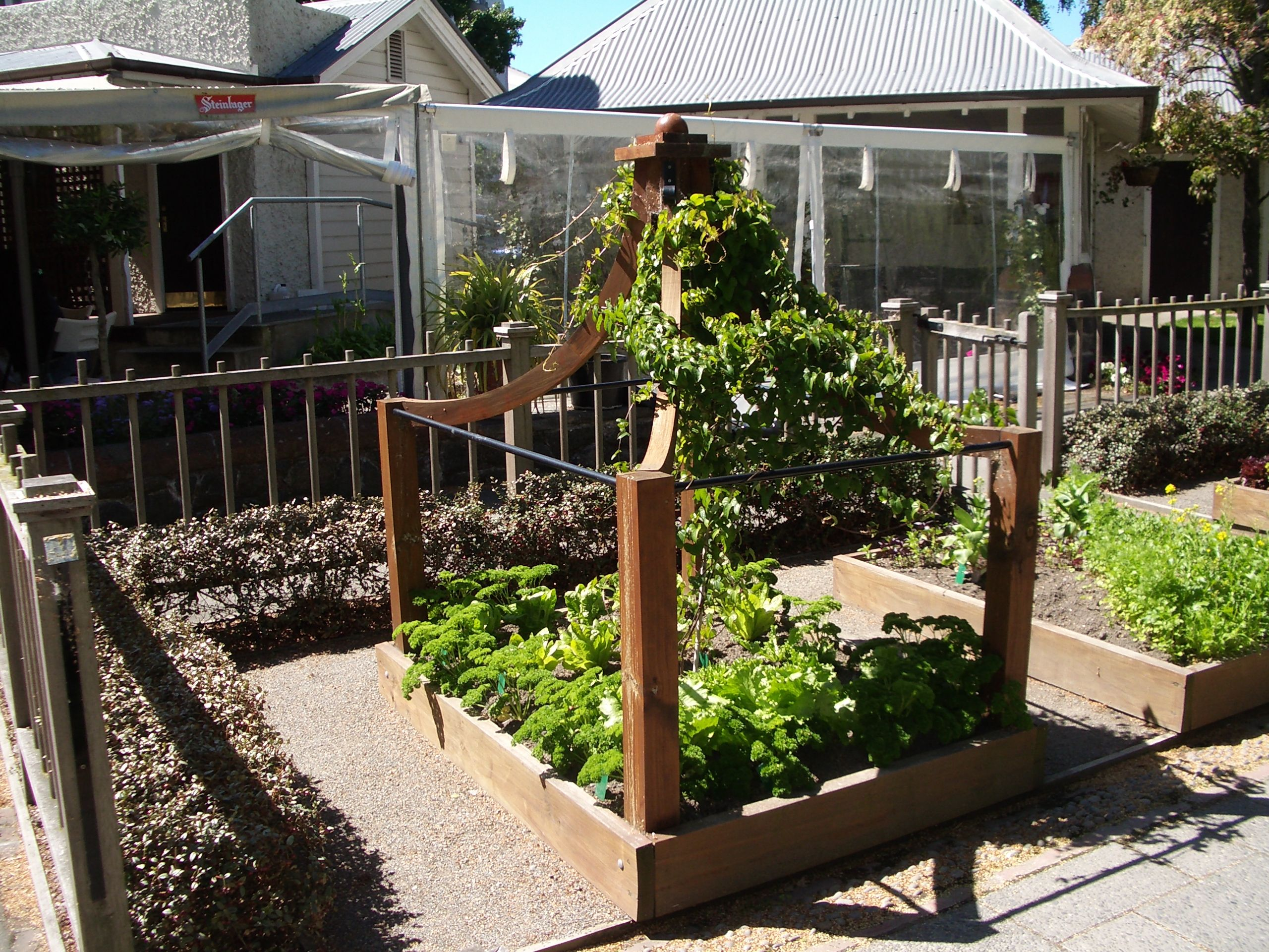The potager garden at a delightful restaurant in ...