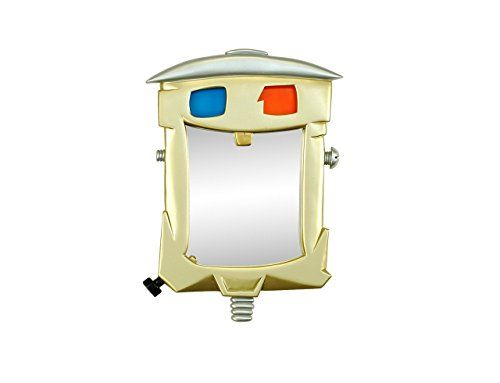 """Tinman decorative wall mirror art (11"""" x 16"""") By Marvellous Mirrors. Tin man gold colored and highly detailed wall mirror - ready to brighten up any Wizard of Oz wall or specially themed interior. He sparkles like he did when he was brand new. Ready to hang, no assembly and FREE SHIPPING."""