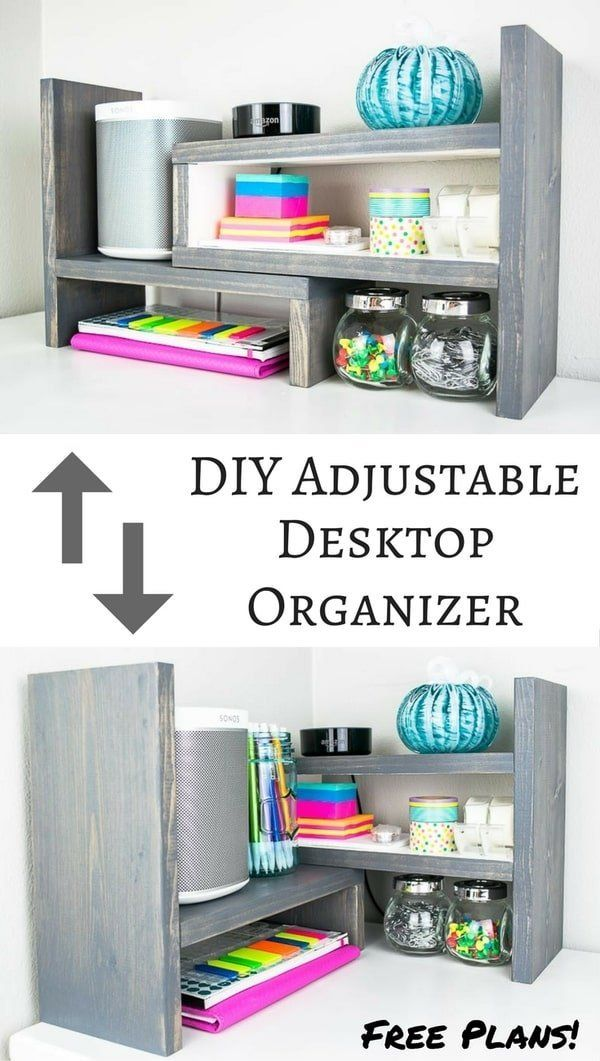 diy adjustable desktop organizer work work work work work easy rh pinterest com