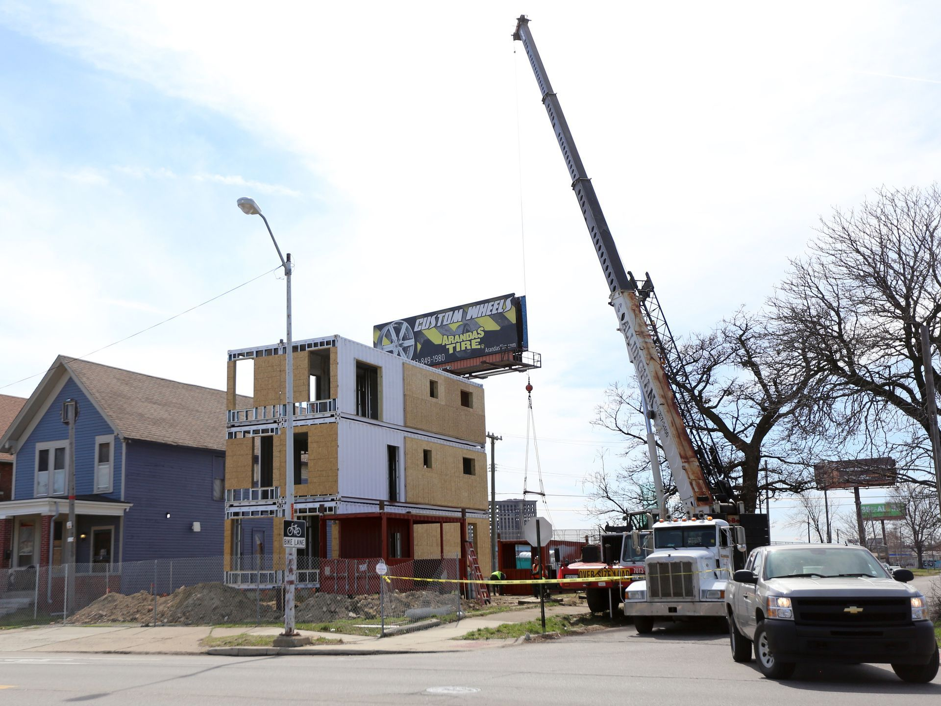 detroit shipping container project finally under way pinterest