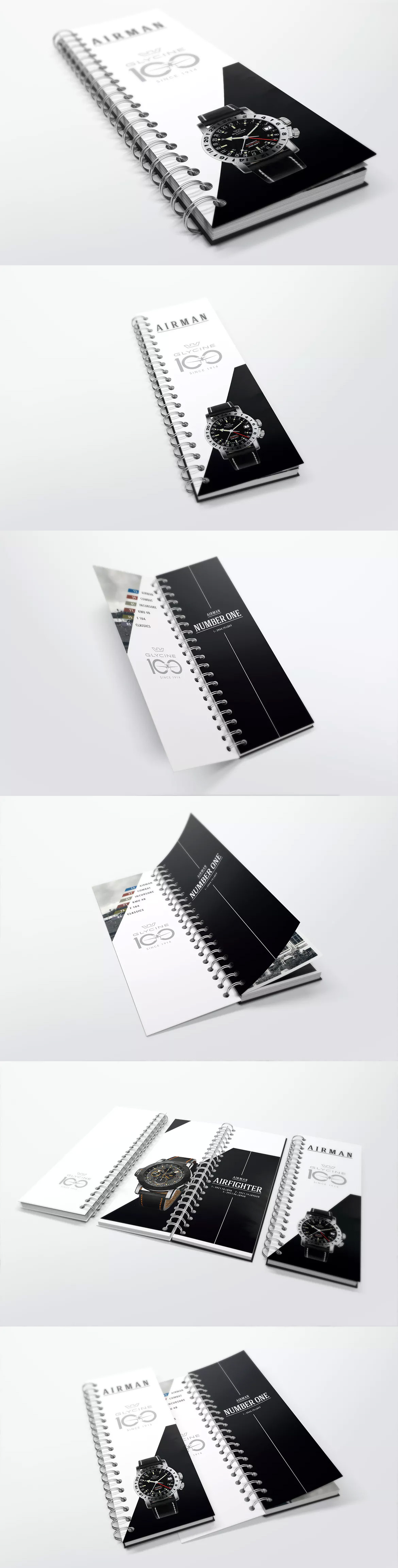 spiral bound book catalogue mockups 5 template psd product