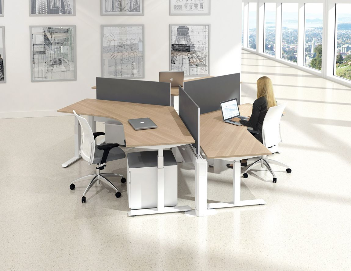 Modern Curved Workstations Office Design In 2019