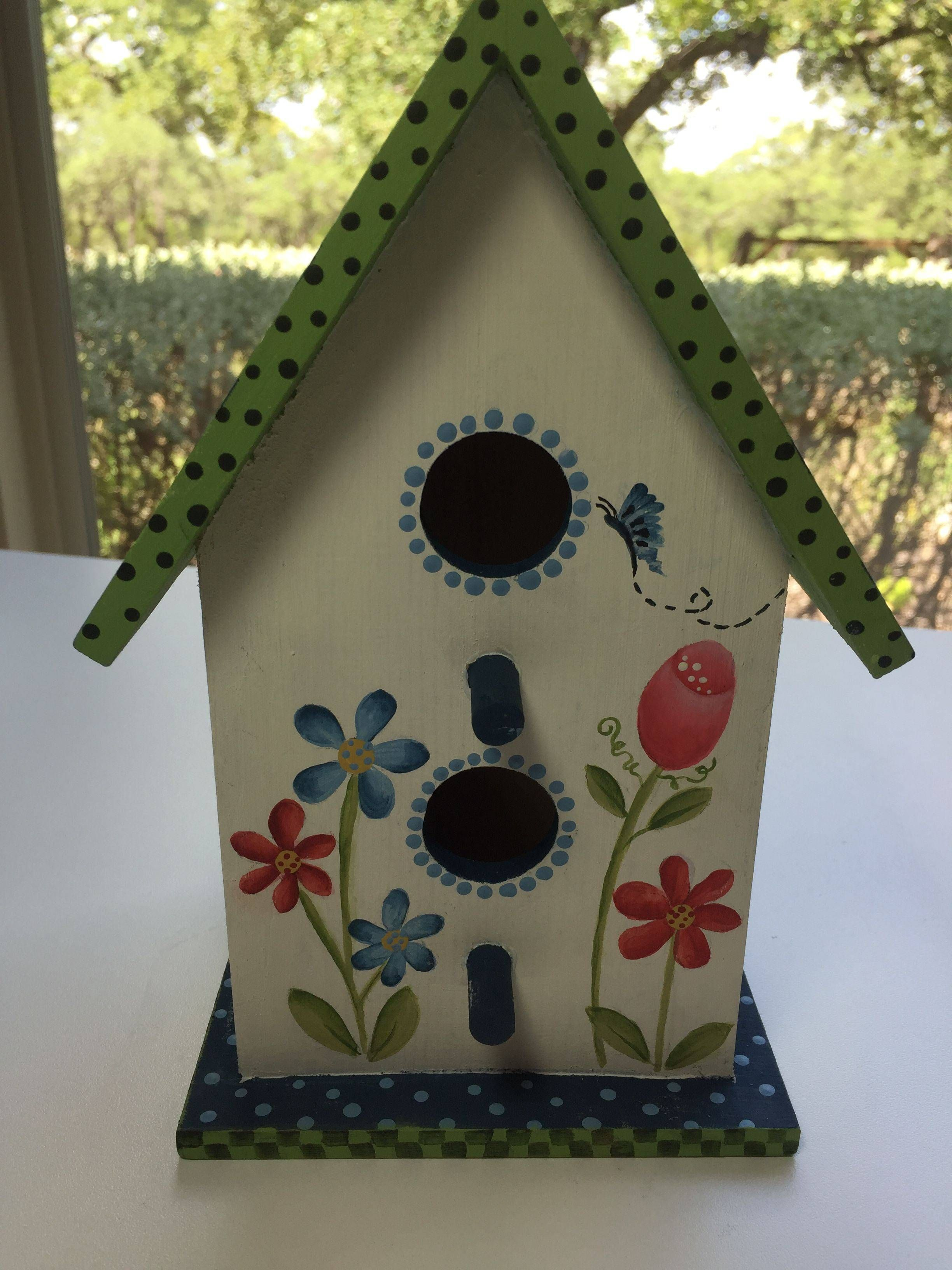 Painted Birdhouse I Made For Mother S Day Bird Houses Painted