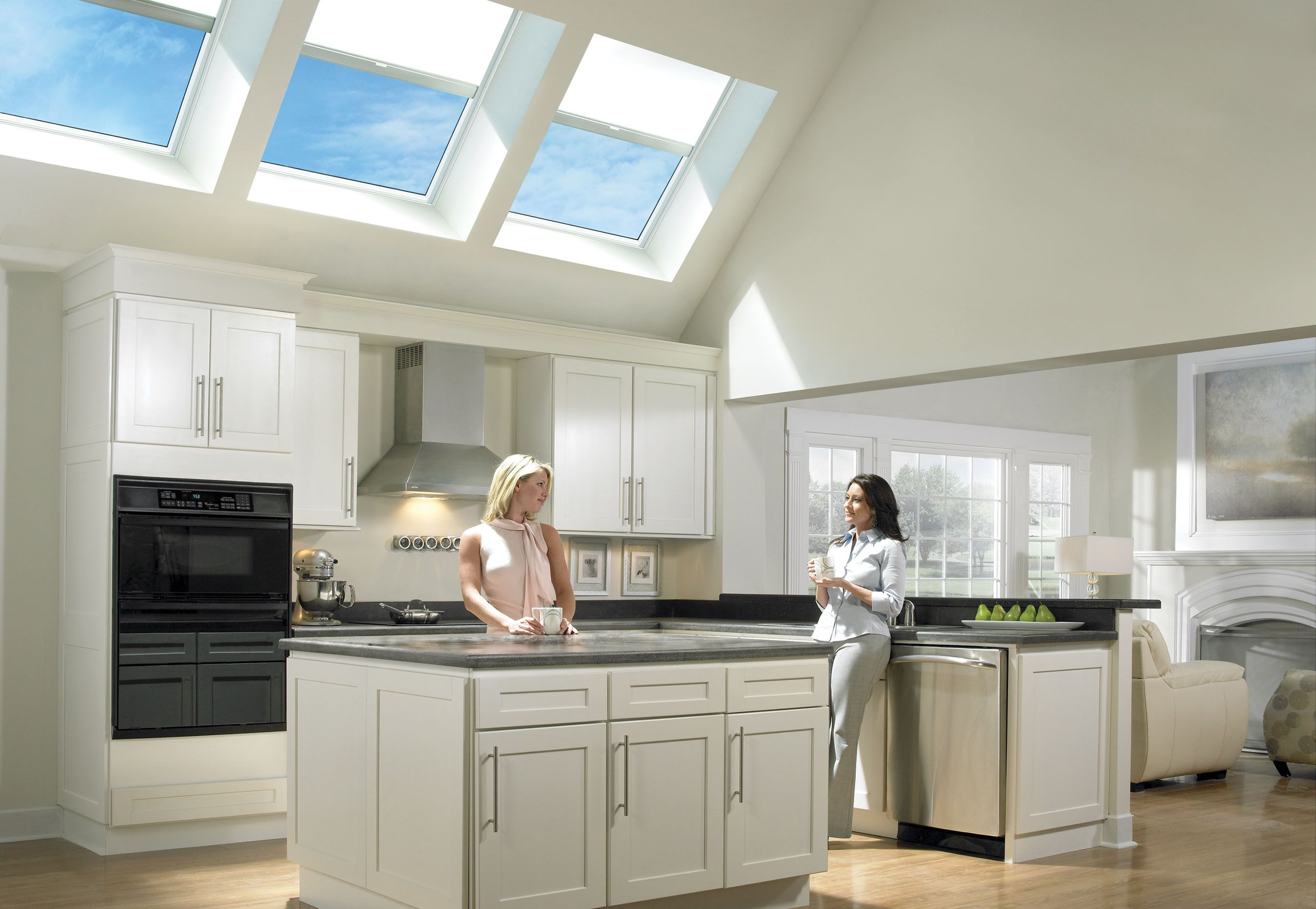 Glorious Triple Fixed Deck Mount Velux Skylights For