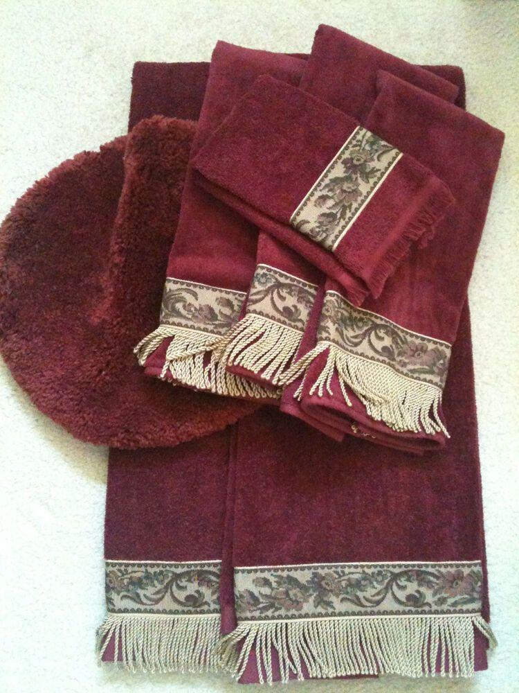 Ebay Sponsored Decorative Embellished 6 Piece Luxury Towel Set
