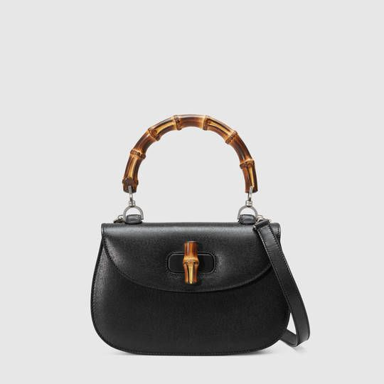 263f358608 Gucci Borsa a mano bamboo in pelle | ....and bags | Pinterest ...