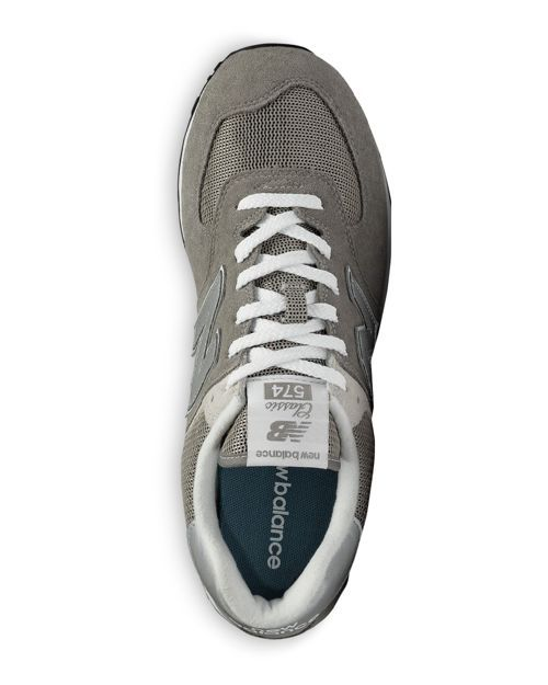 info for 240aa 07685 New Balance Men s Classic 574 Suede Lace Up Sneakers   Suede rubber    Imported   Fits true to size   Suede upper with mesh panels   EVA midsole  and heel ...