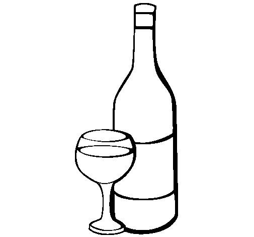 Wine Coloring Page Coloring Pages Super Coloring Pages Painted Wine Bottles